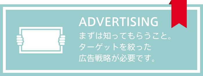 まずは知ってもらうこと。ターゲットを絞った広告戦略が必要です。